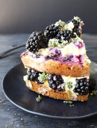 Italian Lemon Olive Oil Cake Recipe with Berries & Mascarpone