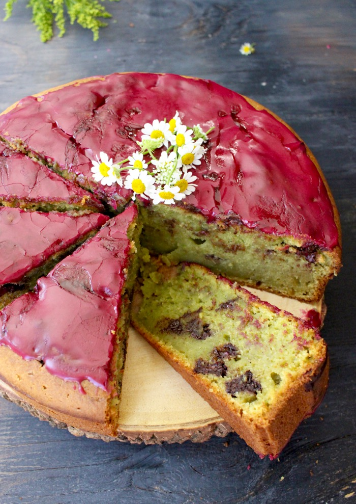 Blueberry Glaze Olive Oil Cake Recipe