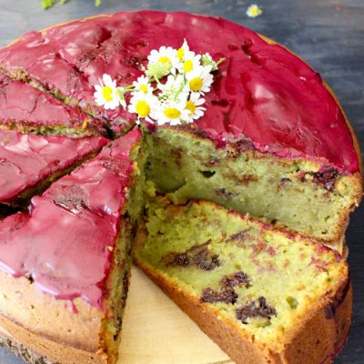 Blueberry Glaze Avocado Cake Recipe