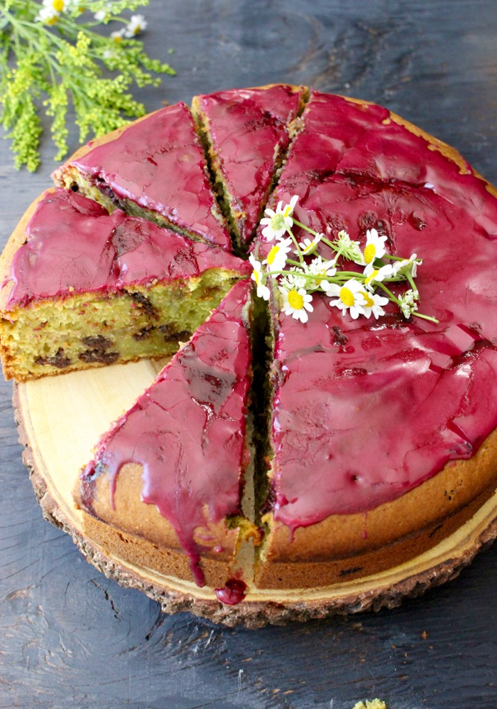 Blueberry Glaze Olive Oil Cake Recipe
