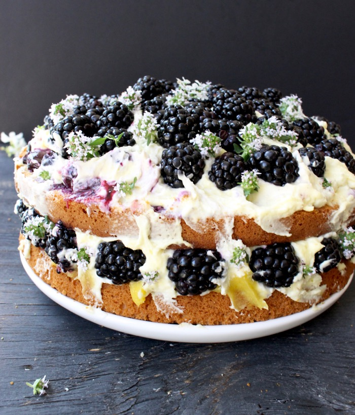 ... Lemon Olive Oil Cake Recipe with Berries, Mascarpone and Lemon Curd