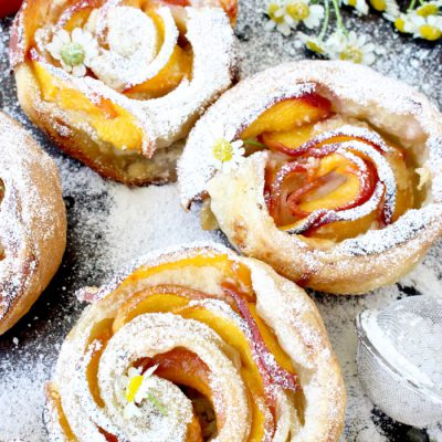 glaze puff pastry dessert rounds with lemon mascarpone fresh berries ...