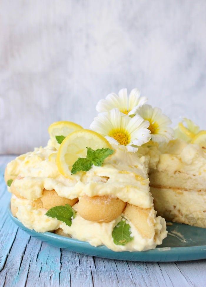 Limoncello Cake Recipe or Lemon Tiramisu