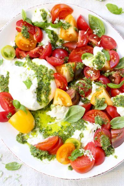Tomato Burrata Salad Recipe ( Burrata Caprese )