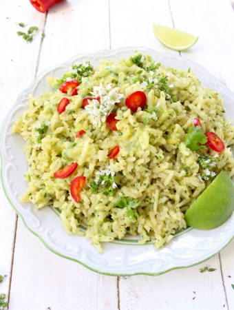 Green Rice Recipe (Arroz Verde)