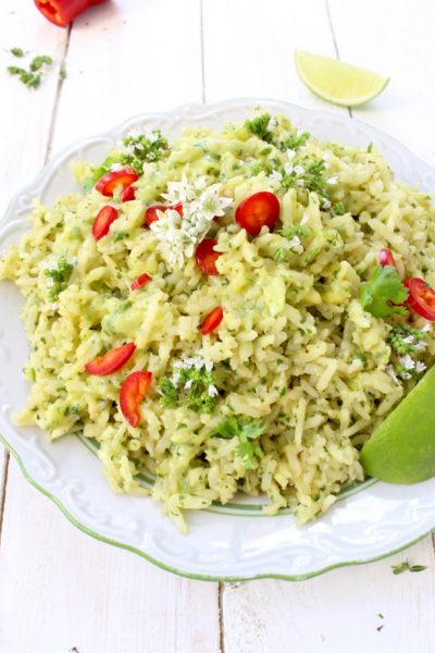 Arroz Verde ( Green Rice Recipe )
