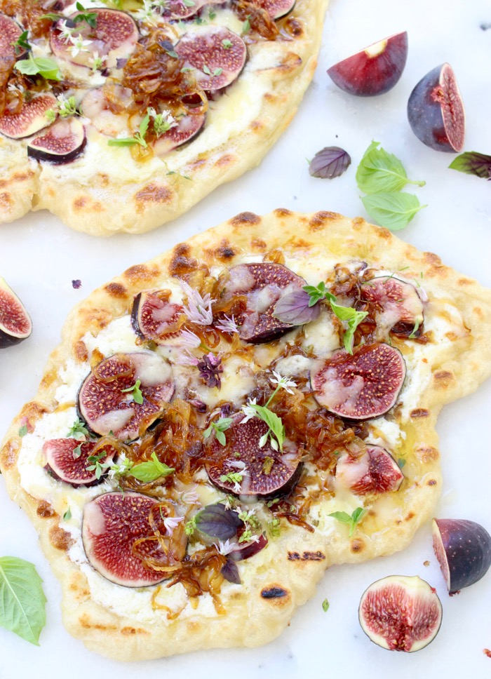 Grilled Fig and Goat Cheese Pizza Recipe