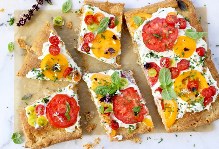 Tomato Tart Recipe with Goat Cheese & Puff Pastry ...