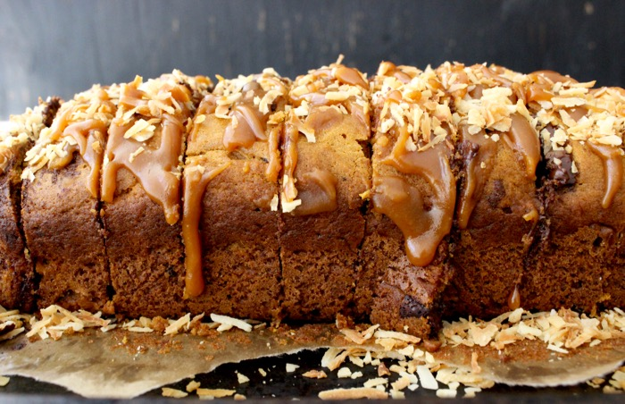Easy Pumpkin Bread Recipe with Chocolate & Caramel
