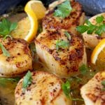 Seared Scallops Recipe with Orange Rum Sauce
