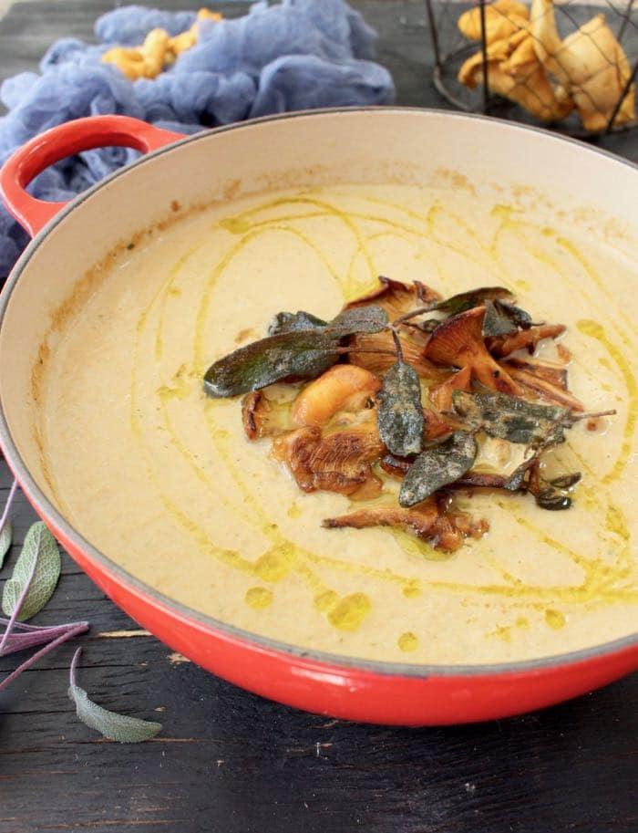Wild Chanterelle Mushroom Soup Recipe