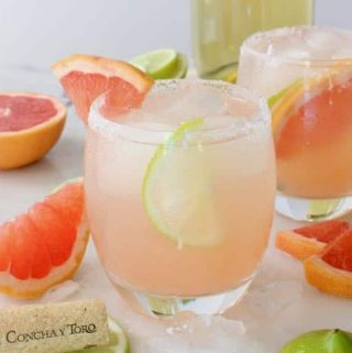 Grapefruit Paloma Cocktails with Limes