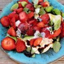 Burrata Strawberry Balsamic Salad Recipe