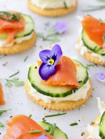 Cucumber Salmon Appetizers