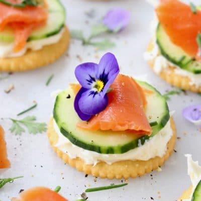 Cucumber Salmon Appetizers