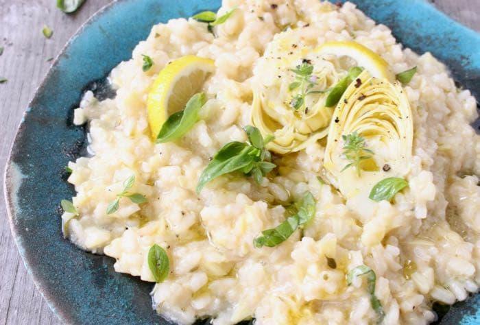 Artichoke Lemon Risotto Vegan