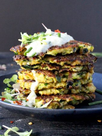 Zucchini Patties Recipe with Tzatziki Sauce