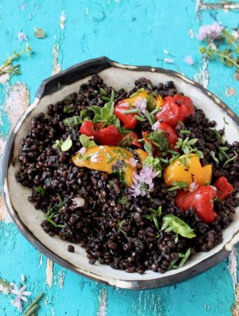 Quinoa and Lentil Salad Recipe with Lemon Chive Vinaigrette