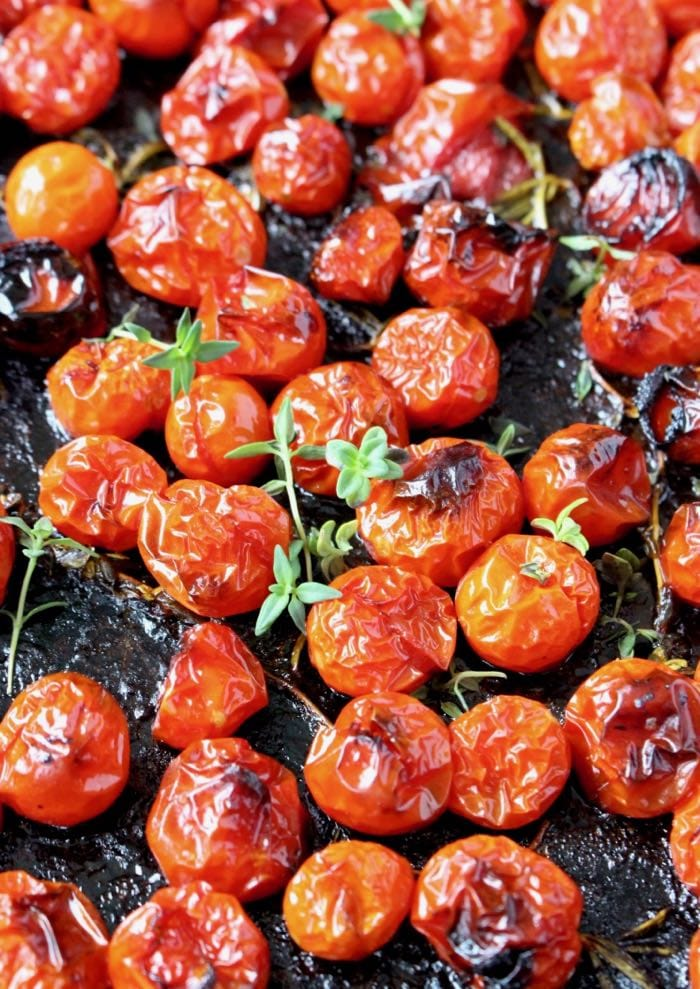 Oven Roasted Cherry Tomatoes.
