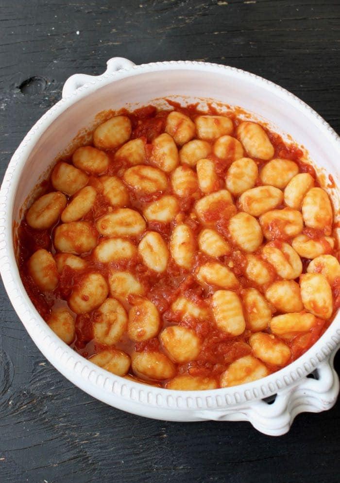 Gnocchi tossed with homemade marinara sauce.
