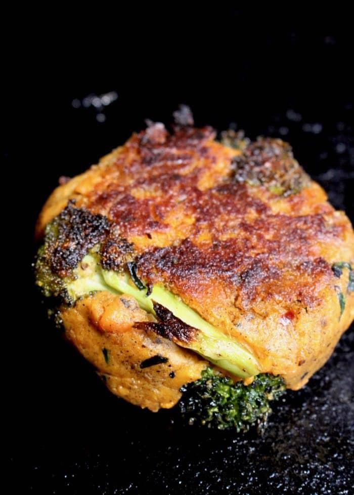Healthy Broccoli Sweet Potato Cakes with Hemp and Buckwheat