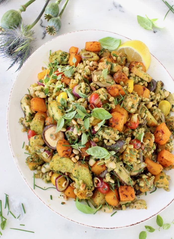 Farro Panzanella - Vegetarian Thanksgiving Menu