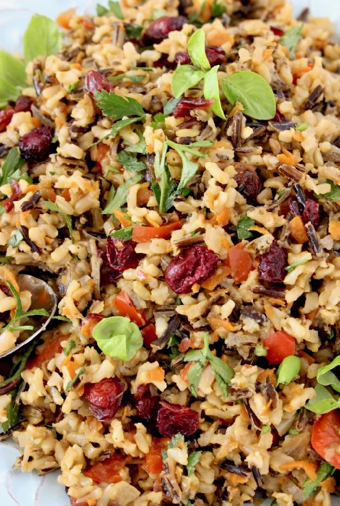 Healthy Cranberry Wild Rice Pilaf