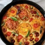 Focaccia Bread with Rosemary and Tomatoes