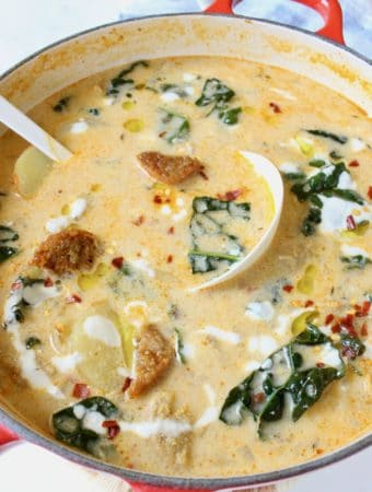 Zuppa Toscana with beyond Italian Sausage and Kale