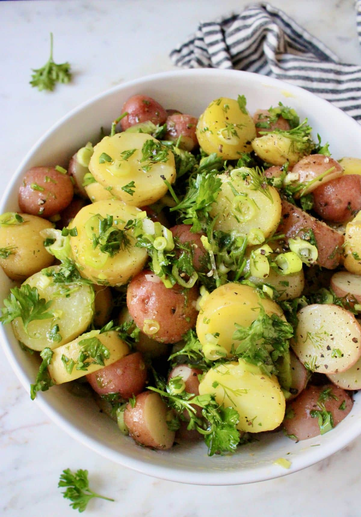 Parsley Potatoes with new baby potatoes