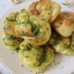 Pizza dough garlic knots