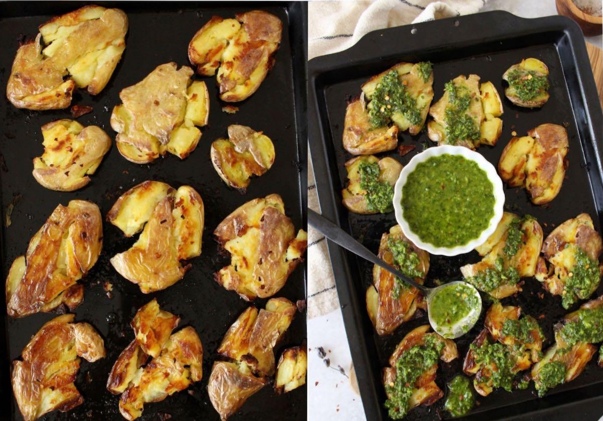 How to make roasted smashed potatoes.