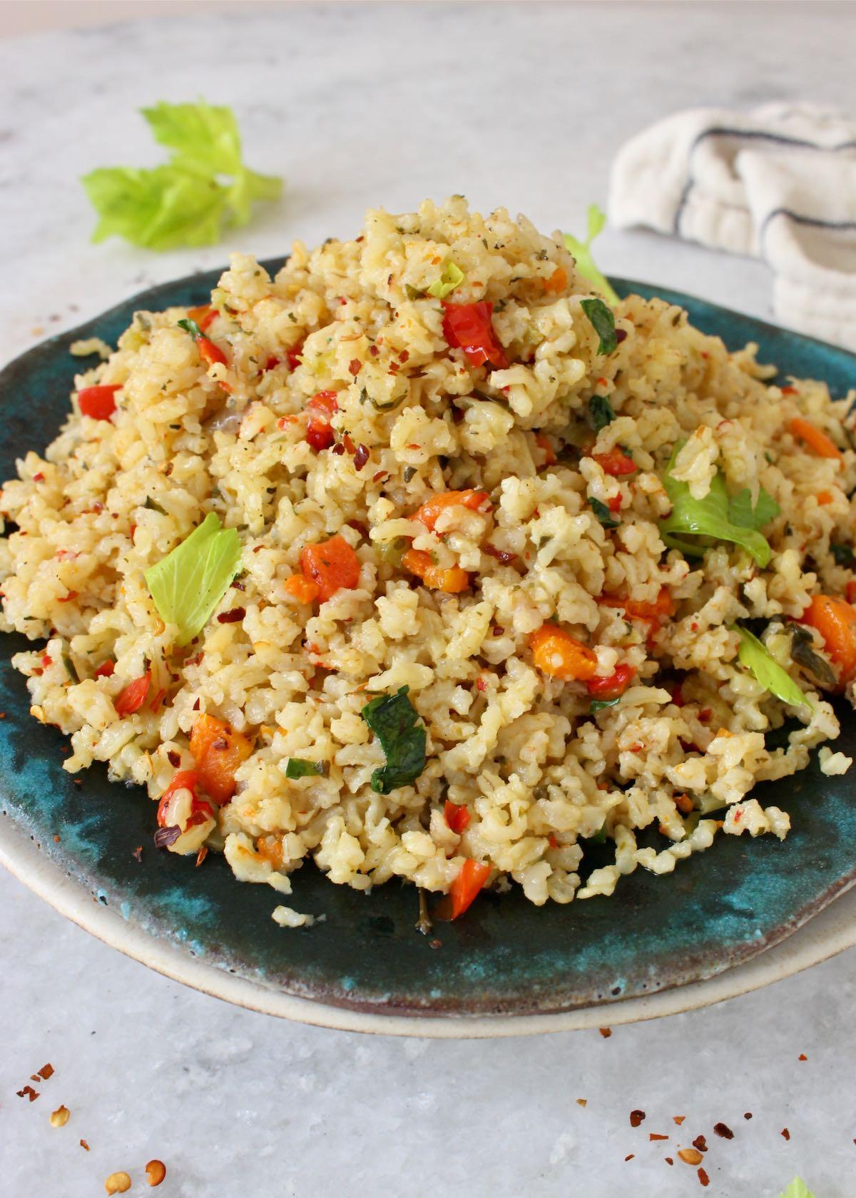 Vegetable Brown Rice Pilaf