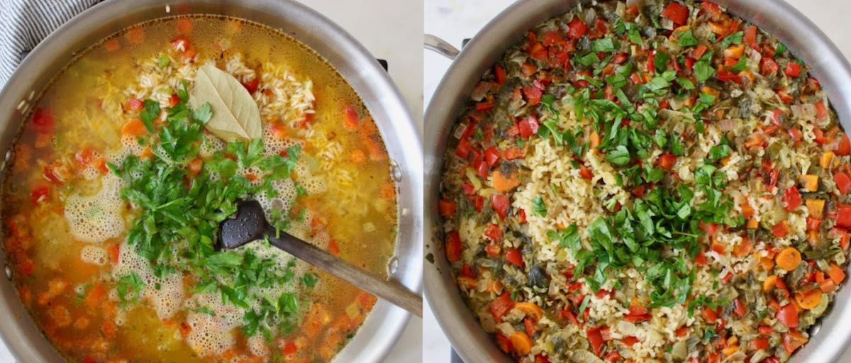 how to make rice pilaf process images